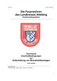 Die Feuerwehren des Landkreises Altötting - UDS, Uwe Ungeheuer