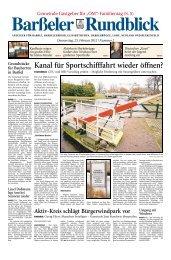 Kanal für Sportschifffahrt wieder öffnen?