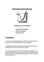 Brandschutzordnung - Universität Flensburg