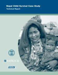Nepal Child Survival Case Study, Technical Report - A2Z: The ...