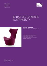 end of life furniture sustainability - International Specialised Skills ...