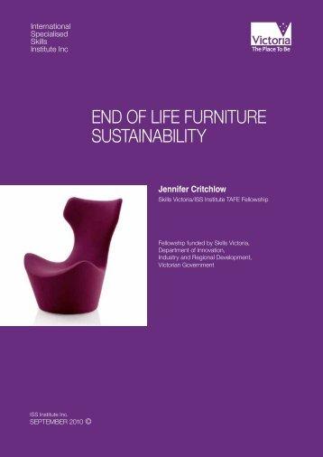 end of life furniture sustainability - International Specialised Skills ...