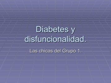 Diabetes y disfuncionalidad.