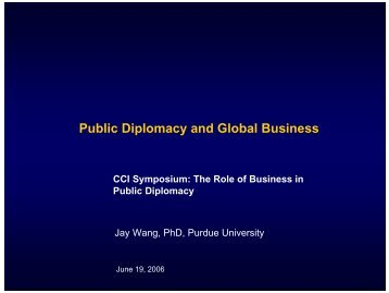 Public Diplomacy and Global Business - Corporate Communication ...