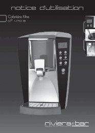 Notice d'utilisation - Cafetière filtre - CF 470 A - Riviera et Bar