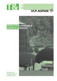 Production d'énergie à partir de biomasse: Territoire ... - vlp-aspan