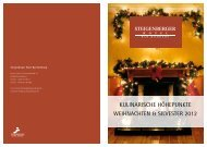 Weihnachts- & Silvesterprogramm - Steigenberger Hotels and Resorts