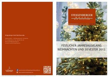 Weihnachts- & Silvesterprogramm - Steigenberger Hotels and Resorts