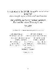 Specification of the K()L Agent-Communication Language plus ...
