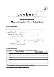 Logbuch FA Allgemeinmedizin - 2004, 6. Nachtrag [PDF]