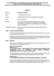 Planning Committee 19 October 2007