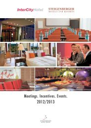 Meetings. Incentives. Events. - Steigenberger Hotels and Resorts