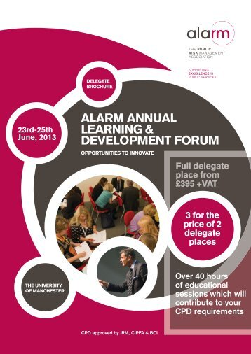 ALARM ANNUAL LEARNING & DEVELOPMENT FORUM