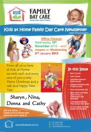 December 2012 - Kids at Home - Family Day Care