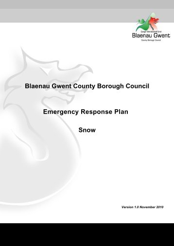 severe weather incident team - Blaenau Gwent County Borough ...