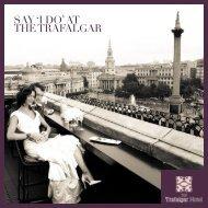 SAY 'I DO' AT THE TRAFALGAR - The Trafalgar Hotel