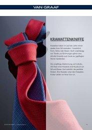 Kniffe kompakt Unsere Krawattenkniffe gibt's auch im ... - Van Graaf
