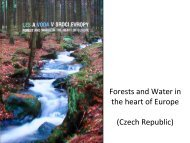 Forests and water in the czech republic - Forest Europe