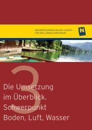 3. Boden, Luft, Wasser - Niederösterreichische Charta für den ...