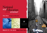 Conference Brochure (PDF) - National Center for Postsecondary ...