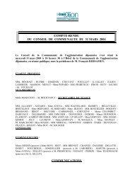 COMMUNAUTE DE L'AGGLOMERATION ... - le Grand Dijon