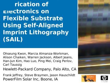 Fabrication of Electronics on Flexible Substrate Using Self-Aligned ...