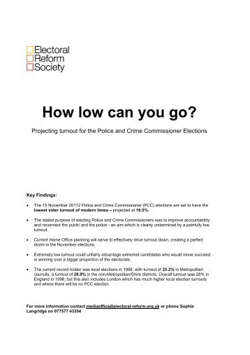 How low can you go? - Electoral Reform Society