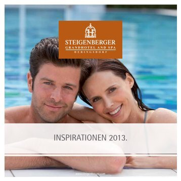 INSPIRATIONEN 2013. - Steigenberger Hotels and Resorts