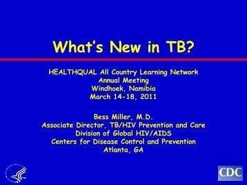 What's New in TB? - HIVQual-US