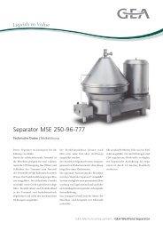 Separator MSE 250-96-777 - GEA Westfalia Separator Group
