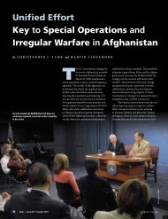 Unified Effort Key to Special Operations and Irregular Warfare in ...