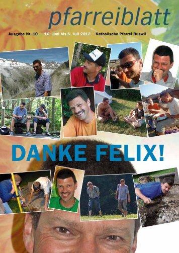Danke Felix! - Pfarrei-ruswil.ch