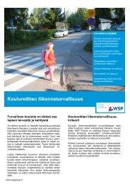 Koulureittien liikenneturvallisuus - WSP Group