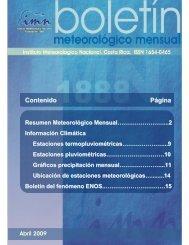 Abril 2009 - Instituto Meteorológico Nacional