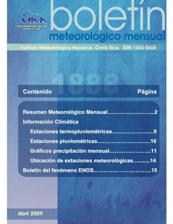 Abril 2009 - Instituto Meteorológico Nacional