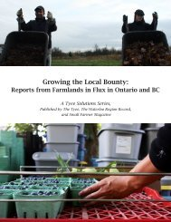 Growing The Local Bounty: Reports From Farmlands In - The Tyee