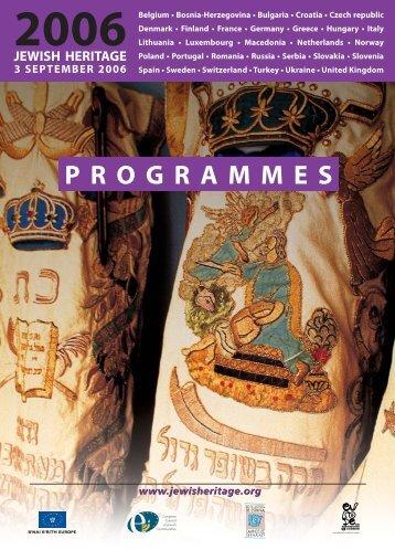 programmes 2006 - Red de Juderías de España