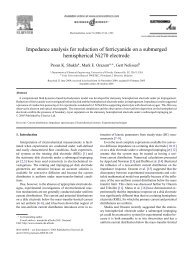 Impedance Analysis for Reduction of Ferricyanide on a Submerged ...