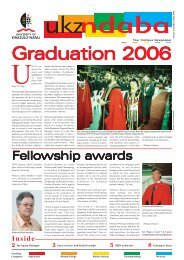NDABA MAY 2006.pmd - University of KwaZulu-Natal
