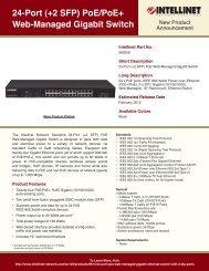 24-Port (+2 SFP) PoE/PoE+ Web-Managed Gigabit Switch