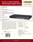 24-Port (+2 SFP) PoE/PoE+ Web-Managed Gigabit Switch - Page 3