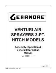VENTURI AIR SPRAYERS 3-PT. HITCH MODELS - Gearmore, Inc.