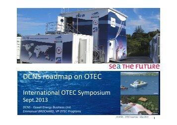 Brochard E_DCNS OTEC Roadmap for France - Hawaii National ...