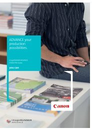 ADVANCE your production possibilities. - Canon