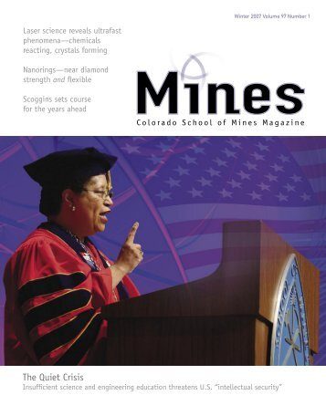 Volume 97 Number 1 Winter 2007 - Mines Magazine - Colorado ...