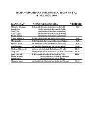raspored obrana diplomskog rada na fpz 18. veljače 2008. kandidat ...