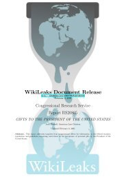 WIKILEAKS - Congressional Research Service - GIFTS ... - Open CRS