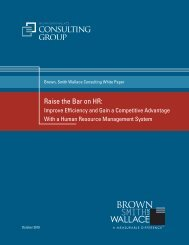 Raise the Bar on HR: - Dresser & Associates