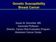 How Much Breast and Ovarian Cancer Is Hereditary? - Abramson ...