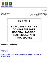 Employment of the Combat Support Hospital Tactics, Techniques ...